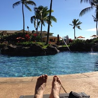 Photo taken at Koloa Landing Resort Pool by Lewis D. on 11/25/2013