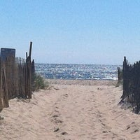 Photo taken at Ponquogue Beach by Reshma on 9/15/2012