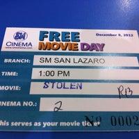 Foto tomada en SM Cinema San Lazaro por Trx27 el 11/30/2012