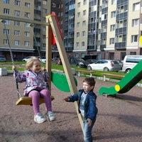 Photo taken at детская площадка Большевиков 11 by Vitaliy K. on 6/21/2014