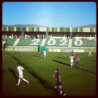 Photo taken at Estadio Municipal La Albuera by Javier L. on 8/11/2013