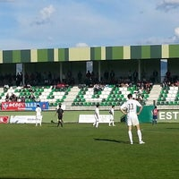 Photo taken at Estadio Municipal La Albuera by Javier L. on 5/5/2013