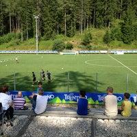 Photo taken at Campo Sportivo Ronzone by Laura @Blumenhotel B. on 7/28/2013