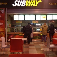 Photo taken at Subway by Алина К. on 12/20/2012
