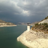 Photo taken at Polemidia Dam by Irina R. on 11/17/2013