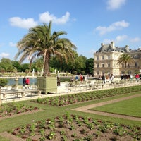 Photo taken at Luxembourg Garden by Mic on 5/18/2013