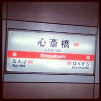 Photo taken at Midosuji Line Shinsaibashi Station (M19) by Takanori M. on 10/29/2012