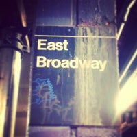 Photo taken at MTA Subway - East Broadway (F) by Darius A. on 3/6/2013