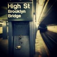 Photo taken at MTA Subway - High St/Brooklyn Bridge (A/C) by Darius A. on 2/3/2013