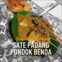 Photo taken at Sate Padang Pondok Benda by MAHFUT on 6/28/2013