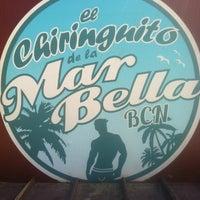 Photo taken at Chiringuito de la Mar Bella by Vladis on 8/27/2013