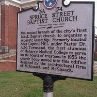 Photo taken at Spruce Street Baptist Church by Jonathan R. on 10/13/2012