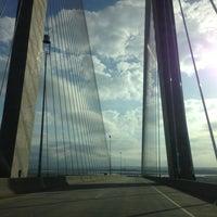 Photo taken at Sidney Lanier Bridge by Jenann G. on 1/19/2013