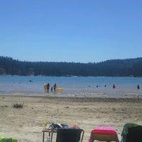 Photo taken at Scotts Flat Lake by Jason K. on 8/11/2013