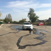 Photo taken at Honda Motors 104'km MKAD by Anton F. on 9/13/2014
