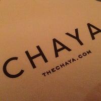 Photo taken at Chaya Brasserie by ashley t. on 12/15/2012