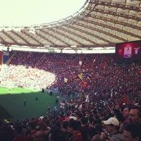 Photo taken at Stadio Olimpico by Pietro V. on 5/26/2013
