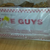 Photo taken at Five Guys by Virginias D. on 1/16/2014