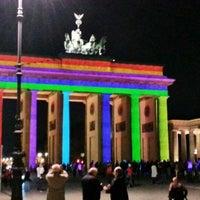 Photo taken at Brandenburg Gate by Luis B. on 10/8/2013