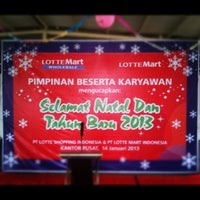Photo taken at Lotte Mart - Head Office by Muhammad C. on 1/14/2013