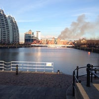 Photo taken at Salford Quays by Anna-Maria F. on 3/3/2014