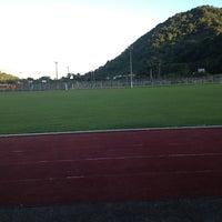Photo taken at Stade Municipal by 💙 Cynthia C. on 12/21/2012