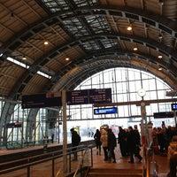 Photo taken at Bahnhof Berlin Alexanderplatz by Daniel L. on 1/16/2013