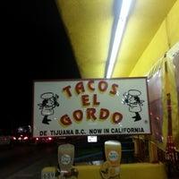 Photo taken at Tacos El Gordo De Tijuana by Michelle L. on 2/2/2013