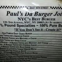 """Photo taken at Paul's """"Da Burger Joint"""" by yvette d. on 3/6/2013"""