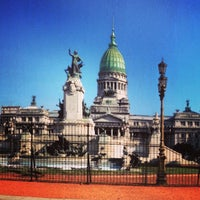 Photo taken at Plaza del Congreso by Horacio V. on 6/12/2013