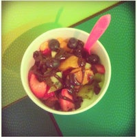 Photo taken at Yolishous Frozen Yogurt Bar & Cafe by Emily P. on 4/25 ...