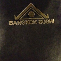 Photo taken at Bangkok Sushi by Rebecca and Jeff C. on 10/14/2012
