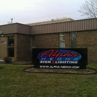 Photo taken at Alpha Neonx Sign And Lighting by Brian D. on 4/17/2013