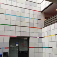 Photo taken at MIT Media Lab — Wiesner Building (Building E15) by Eduardo P. on 5/3/2013