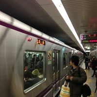 Photo taken at Tanimachi Line Temmabashi Station (T22) by Masahiro K. on 12/29/2012