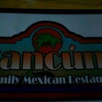 Foto diambil di Cancun's Restaurant oleh Luke B. pada 9/15/2012