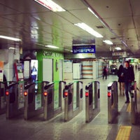Photo taken at Gangnam Stn. by Sungbae M. on 10/1/2012