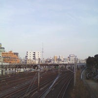Photo taken at 芋坂跨線橋 by TachiSilver on 3/7/2013