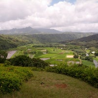 Photo taken at Hanalei Valley Lookout by Sarah M. on 6/7/2013