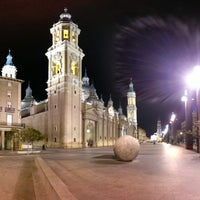 Photo taken at Plaza del Pilar by Iker R. on 3/1/2013