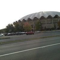 Photo taken at WVU Coliseum by John M. on 10/14/2012