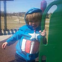 Photo taken at Hampton Park by Sabrina Z. on 3/19/2014