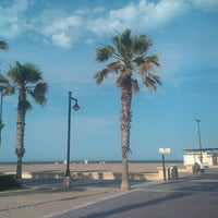 Photo taken at Les Arenes Beach by Amparo P. on 6/5/2013