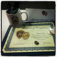 Photo taken at Manhattan Beach Police by Dione O. on 3/14/2014