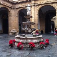 Photo taken at Patio de la fuente Rectorado by Maria Jose G. on 12/20/2012