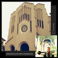 Photo taken at National Shrine of Our Mother of Perpetual Help (Redemptorist Church) by Hannah M. on 7/24/2013