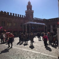 Photo taken at Piazza Guercino by Emanuele C. on 2/21/2016