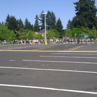 Photo taken at Evergreen High School by Julie L. on 5/9/2013