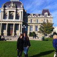 Photo taken at Esplanade de Montbenon by Maraki T. on 10/13/2012