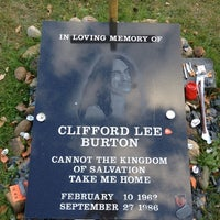 Photo taken at Cliff Burton Memory Stone by Peter S. on 10/2/2013